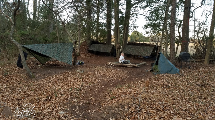 Christmas bushcraft camping
