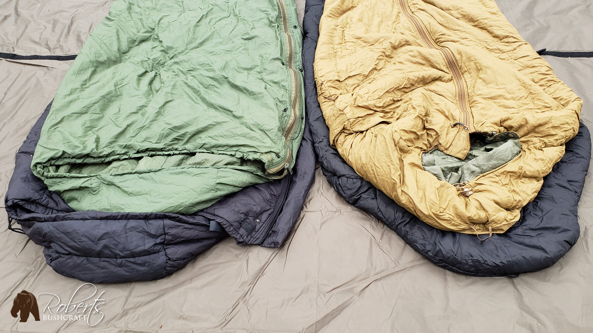 USMC 3 Season Sleeping Bag vs. Military Modular Sleeping System Bag