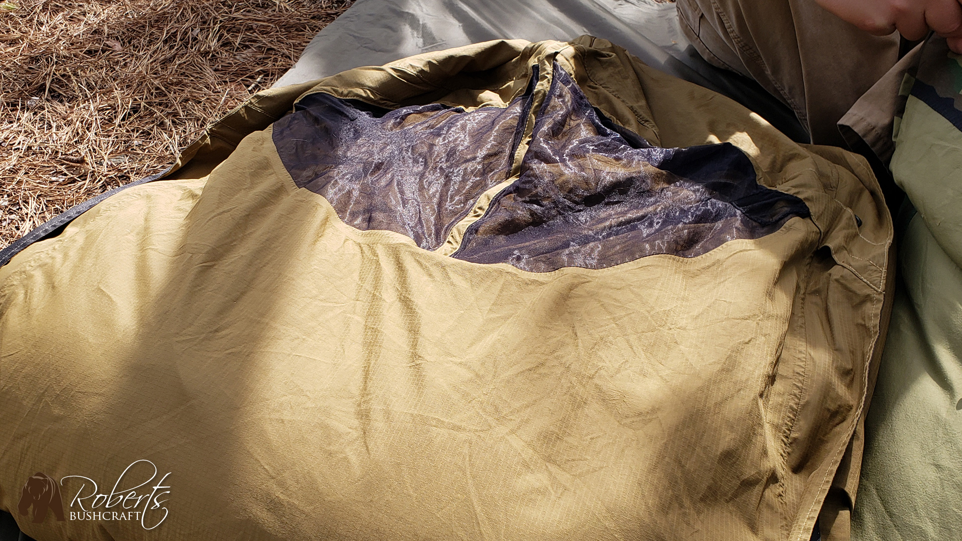 USMC Improved Bivy Cover Rain Test