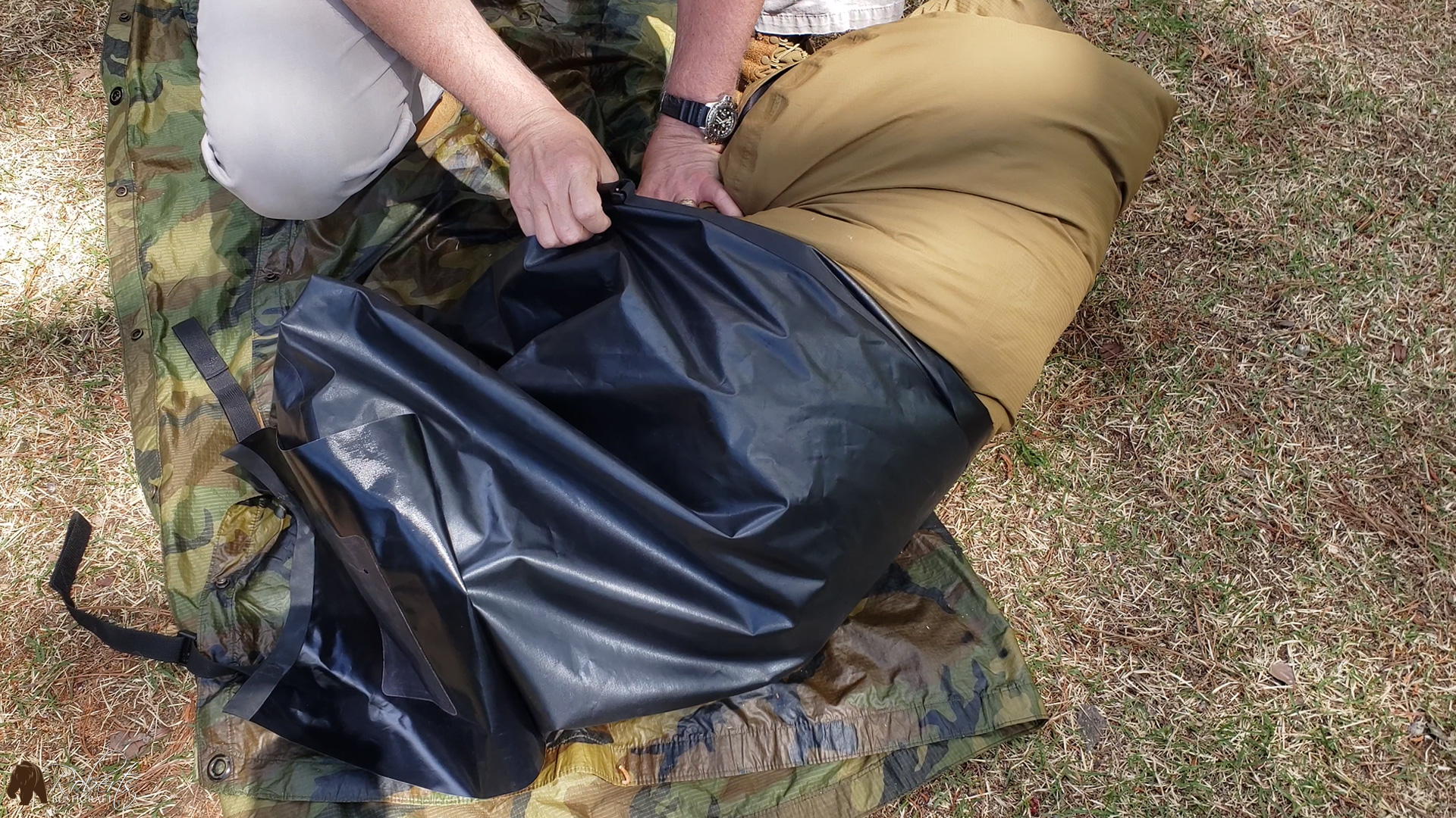 usmc military sleeping bags placed inside seal line bag