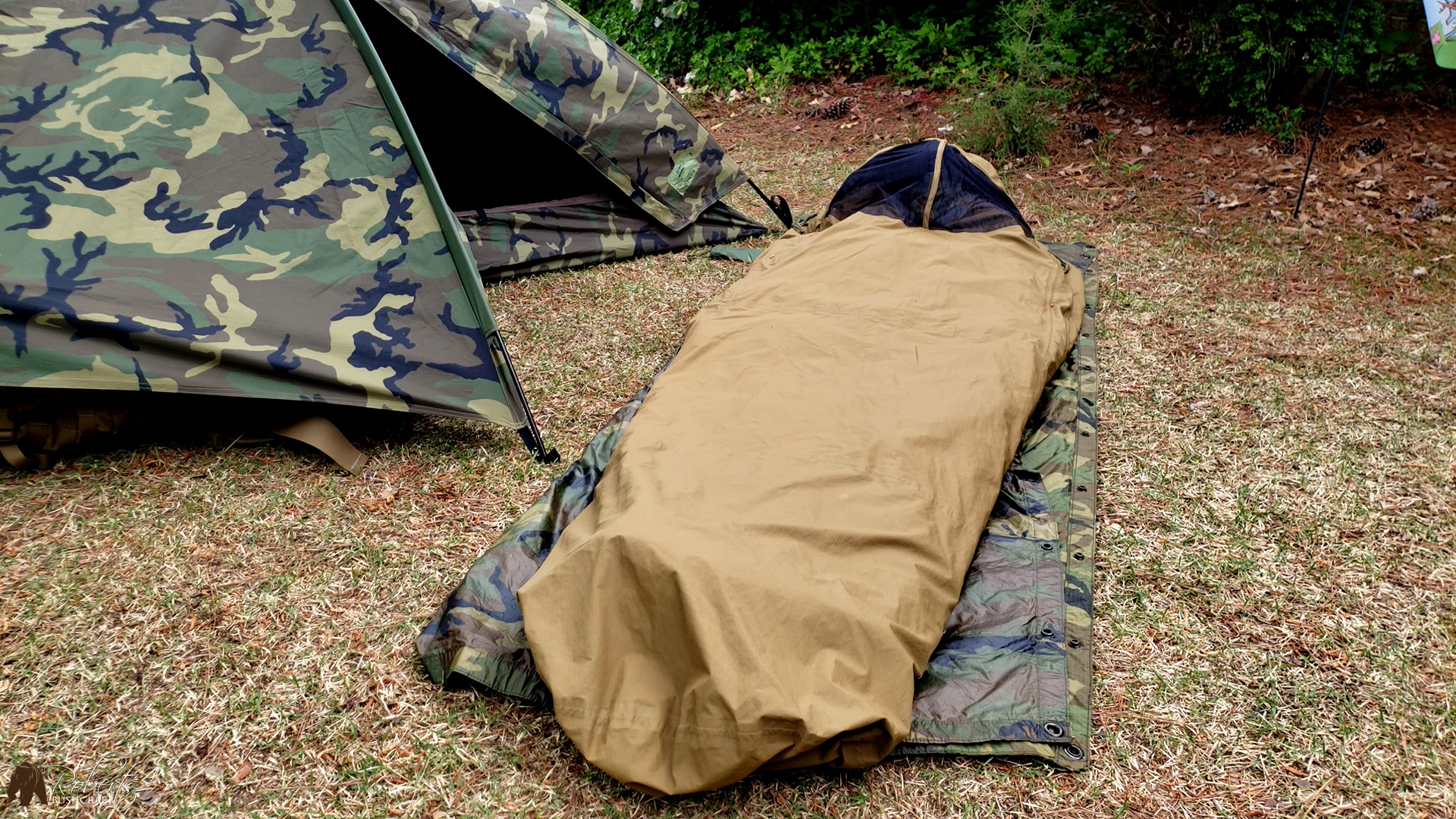 USMC Improved Bivy Cover and TCOP tent