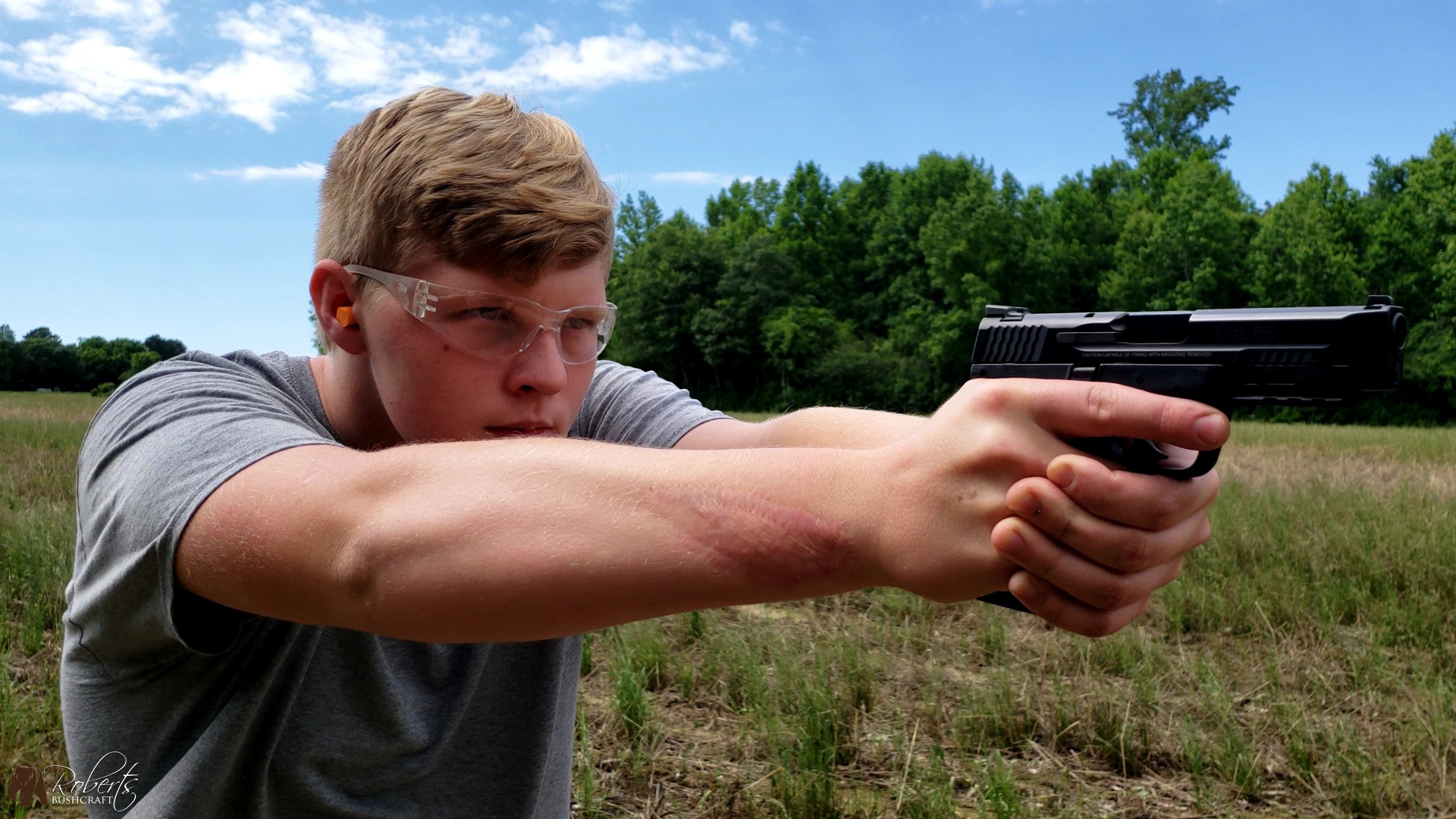 Smith and Wesson Target Practice with AR-15 Sport II, 9MM and 45ACP