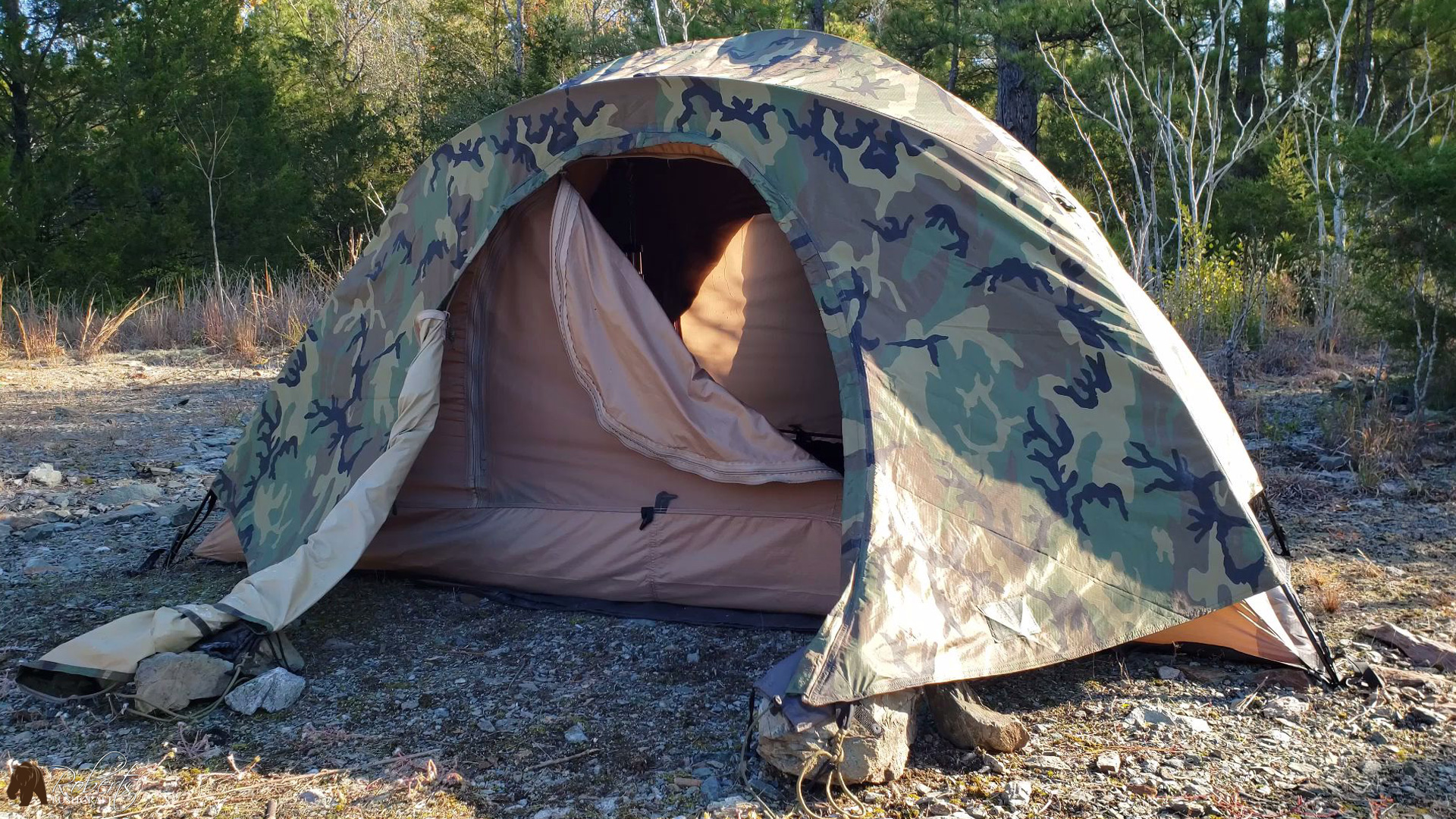 USMC 2 Man Combat Tent Veterans Day overnight camp